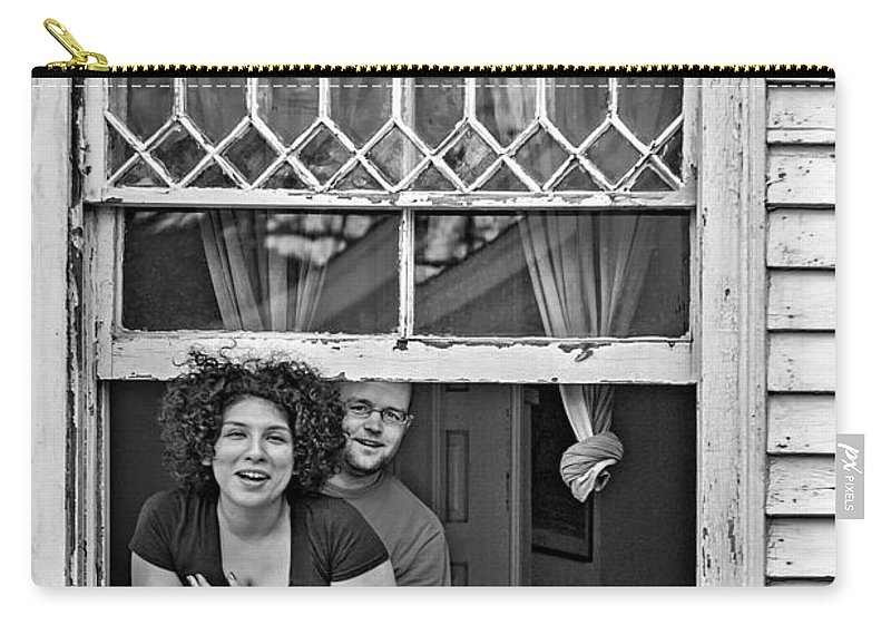 New Orleans Carry-all Pouch featuring the photograph A New Orleans Greeting 2 Bw by Steve Harrington