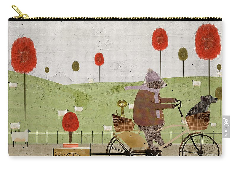 Bears Carry-all Pouch featuring the painting A New Poppy Tree by Bri Buckley