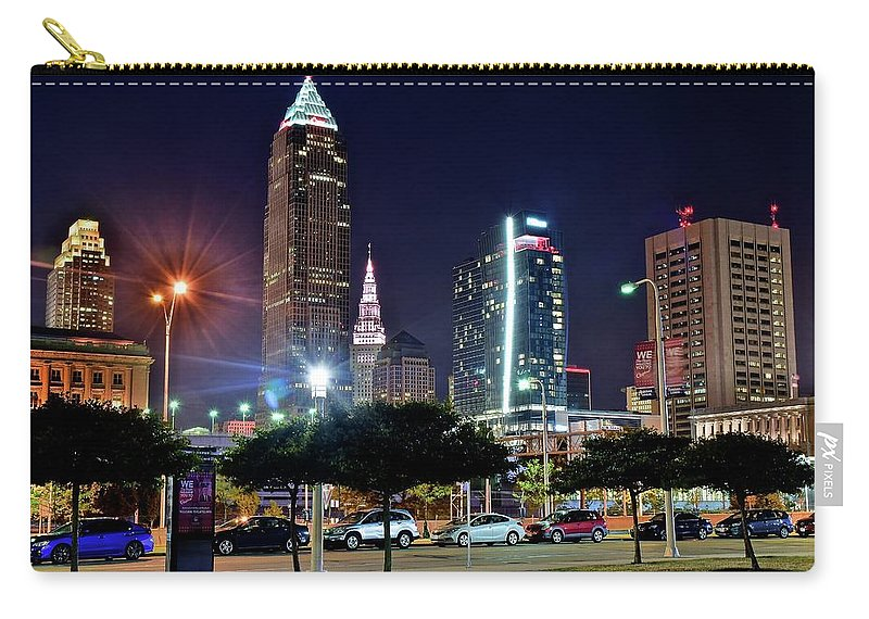 Cleveland Carry-all Pouch featuring the photograph A New View by Frozen in Time Fine Art Photography