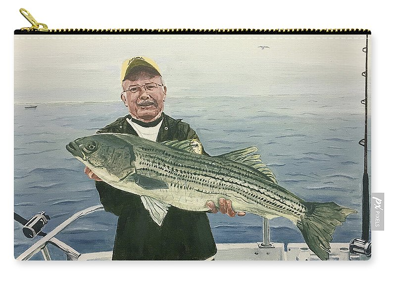 Fishing Carry-all Pouch featuring the painting A Nice Catch by Michael Morgan