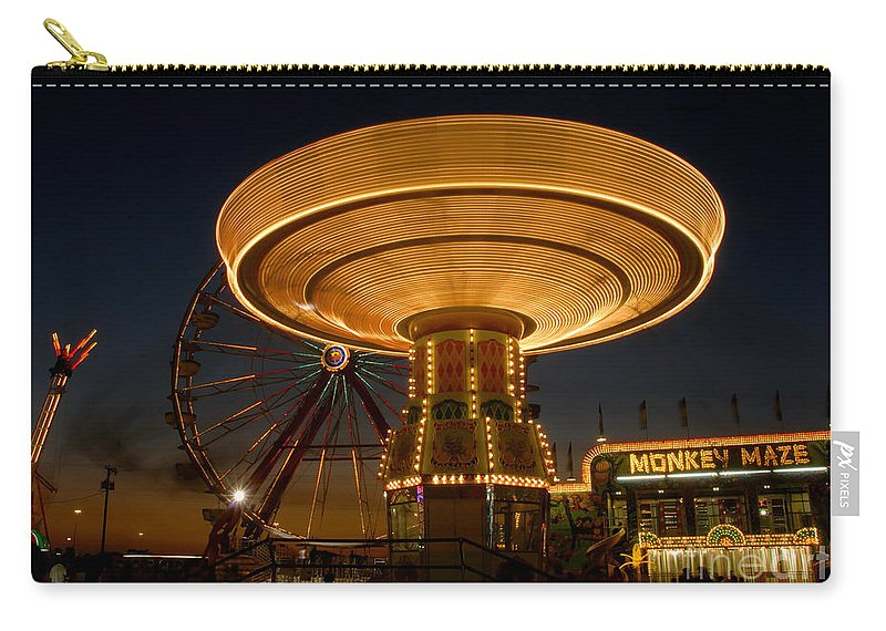 Fair Carry-all Pouch featuring the photograph A Night At The Fair by David Lee Thompson