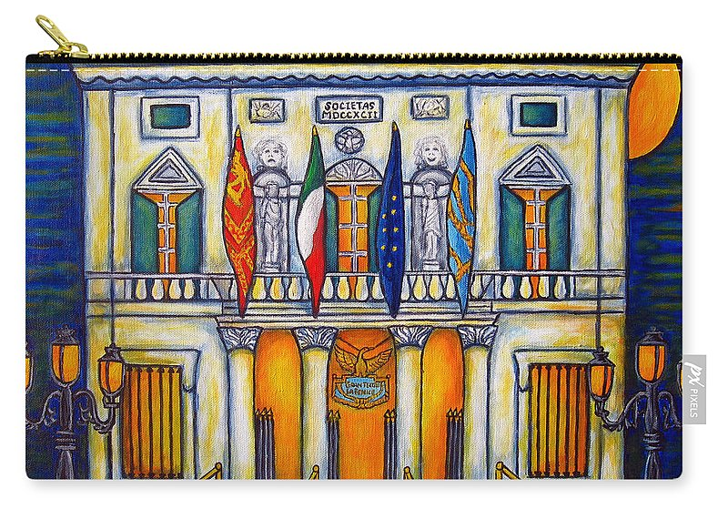 Theatre Carry-all Pouch featuring the painting A Night at the Fenice by Lisa Lorenz
