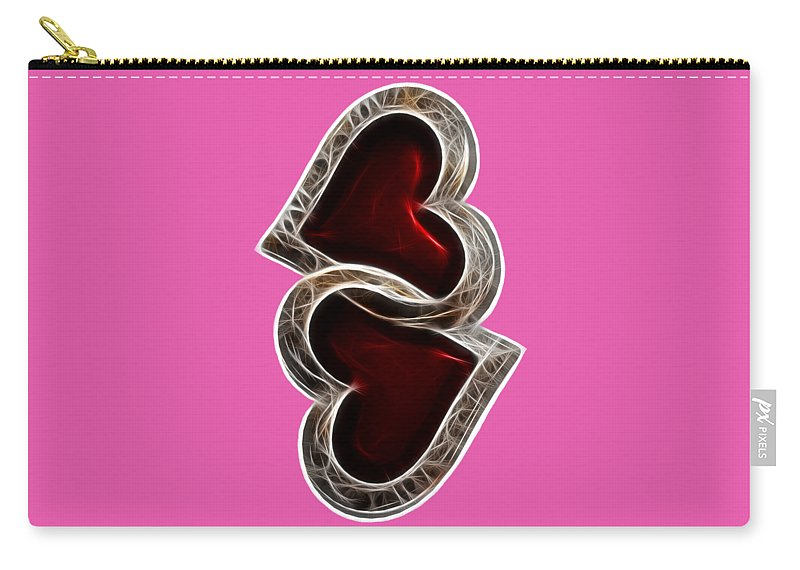 Heart Carry-all Pouch featuring the photograph A Pair Of Hearts by Shane Bechler