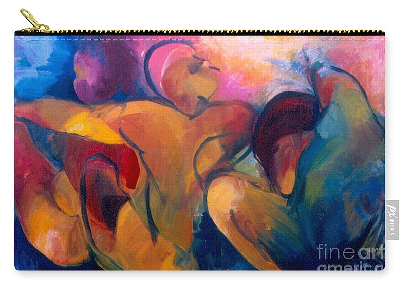 Oil Painting Carry-all Pouch featuring the painting A Passion To Be Raised by Daun Soden-Greene