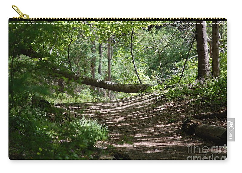 Landscape Carry-all Pouch featuring the photograph A Path In The Woods by David Lane