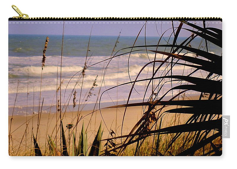Peek At The Shore Carry-all Pouch featuring the photograph A Peek At The Shore by Susanne Van Hulst