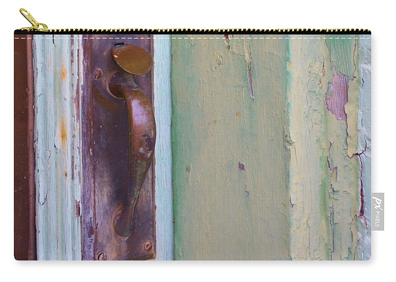 Doors Carry-all Pouch featuring the photograph A Peeling by Jan Amiss Photography