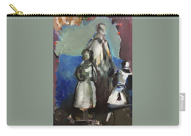Abkorovits Robert Carry-all Pouch featuring the painting A Piece Of Art by Robert Abkorovits