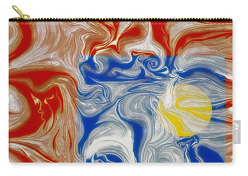 Piece Of Heaven Carry-all Pouch featuring the digital art A Piece Of Heaven For Everyone by Leo Symon