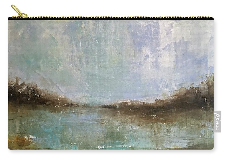 Landscape Carry-all Pouch featuring the painting A Piece Of Heaven by Sandra Reeves