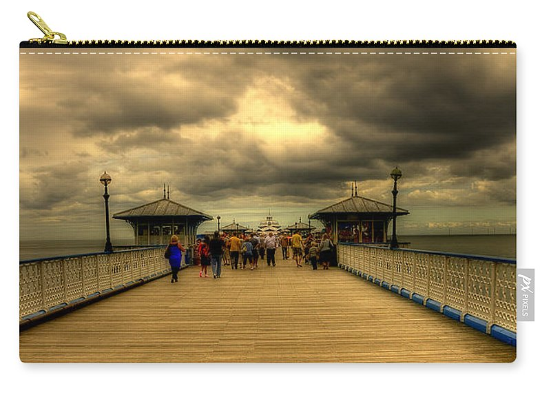 Pier Carry-all Pouch featuring the photograph A Pier by Svetlana Sewell