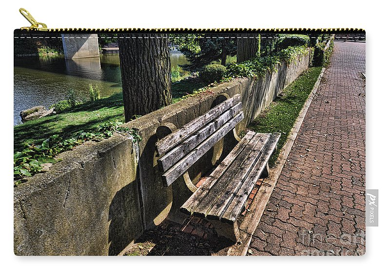 Bench Carry-all Pouch featuring the photograph A Place To Rest by Chris Fleming