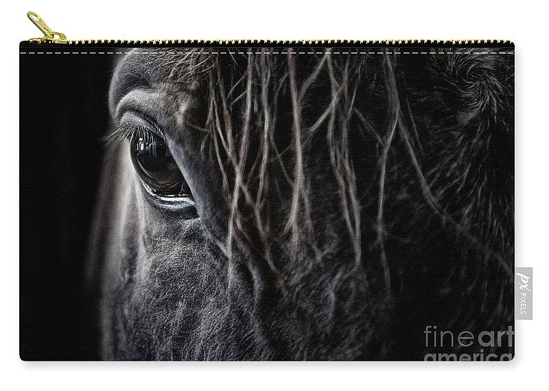 Brad Allen Carry-all Pouch featuring the photograph A Race Horse Named Tikki by Brad Allen Fine Art