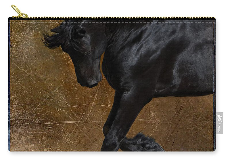 Horse Carry-all Pouch featuring the photograph A Regal Bow by Jean Hildebrant