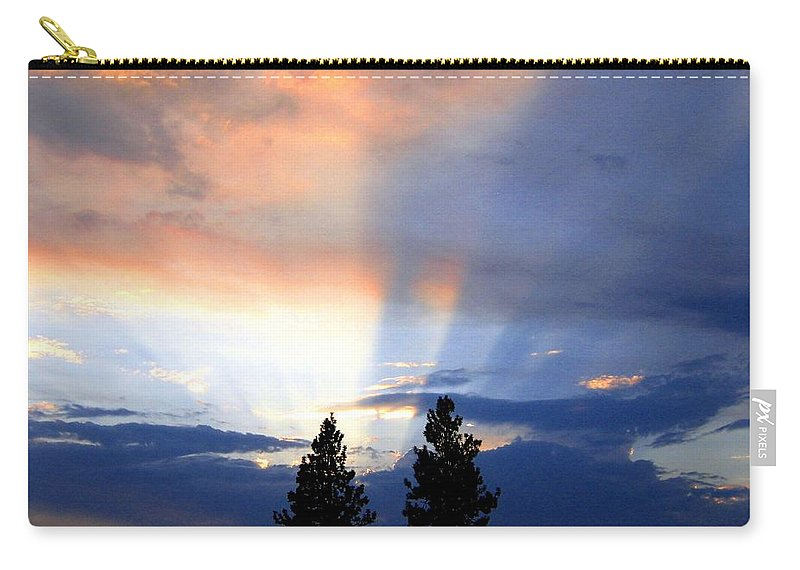 Sky Carry-all Pouch featuring the photograph A Riveting Sky by Will Borden