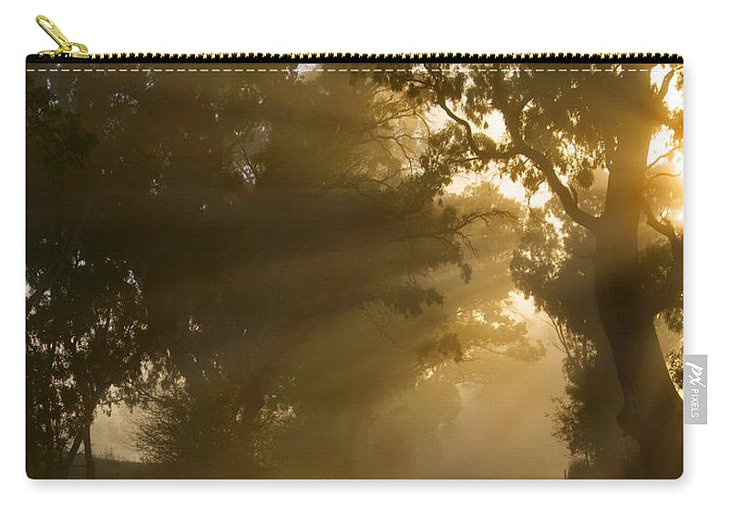 Highway Carry-all Pouch featuring the photograph A Road Less Traveled by Mike Dawson