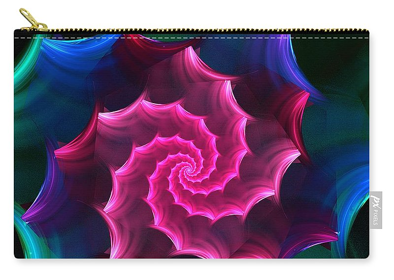 Fantasy Carry-all Pouch featuring the digital art A Rose By Any Other Name by David Lane