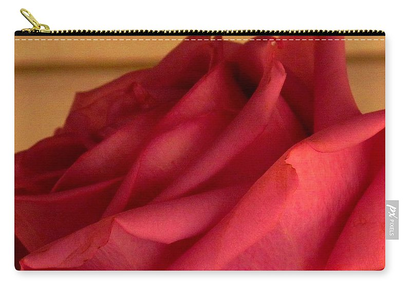 Rose Carry-all Pouch featuring the photograph A Rose In Horizonal by Ian MacDonald
