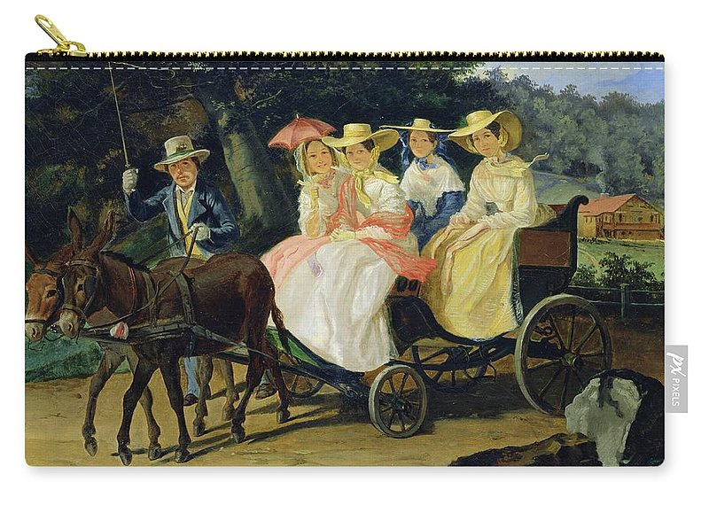 Run Carry-all Pouch featuring the painting A Run by Aleksandr Pavlovich Bryullov