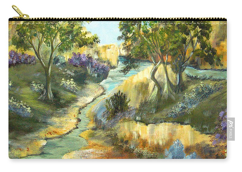 Landscape Carry-all Pouch featuring the painting A Sandy Place To Rest by Ruth Palmer