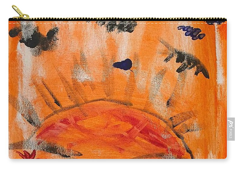 Abstract Carry-all Pouch featuring the painting A Satisfying Sunset by Wonju Hulse