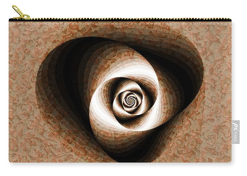Fractal Carry-all Pouch featuring the digital art a Sculpt Rose by Richard Ortolano