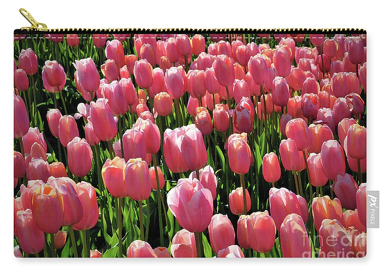 Tulip Carry-all Pouch featuring the photograph A Sea Of Coral by Kimberly Berg-Dunlap