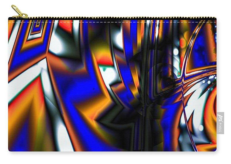 Seam Carry-all Pouch featuring the digital art A Seam Runs Through It by Ron Bissett