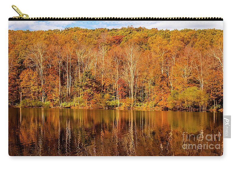 Tree Carry-all Pouch featuring the photograph A Season Of Reflection by Roy Branson