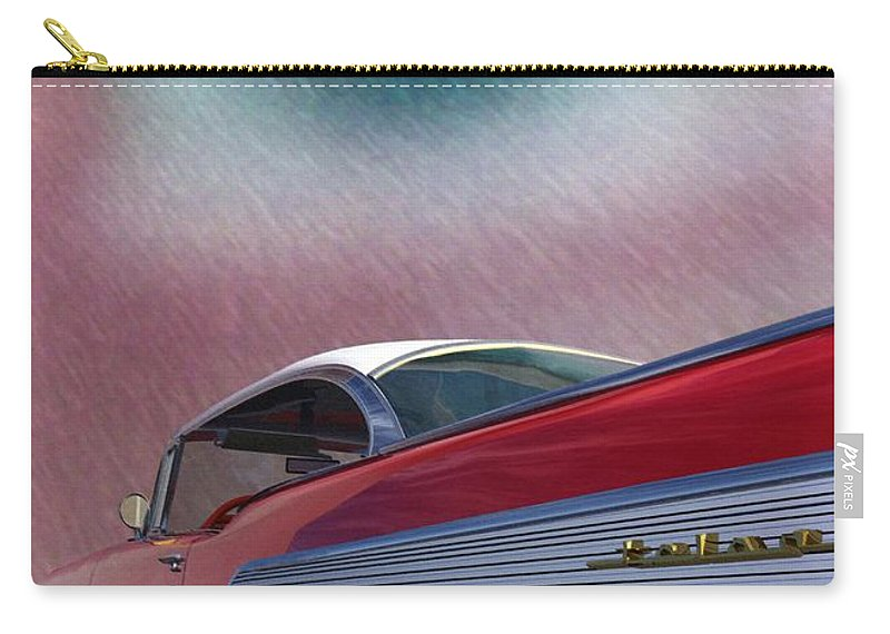 Classic Cars Carry-all Pouch featuring the digital art A Second Look by Richard Rizzo