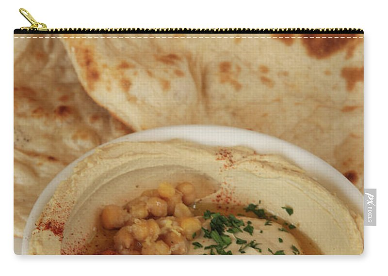 Humus Carry-all Pouch featuring the photograph A Serving Of Humus by PhotoStock-Israel