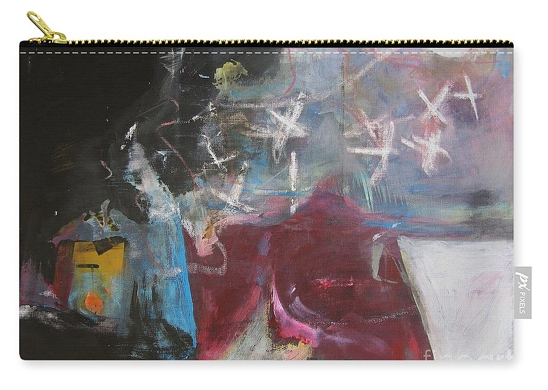 Abstract Paintings Carry-all Pouch featuring the painting A Short Story by Seon-Jeong Kim