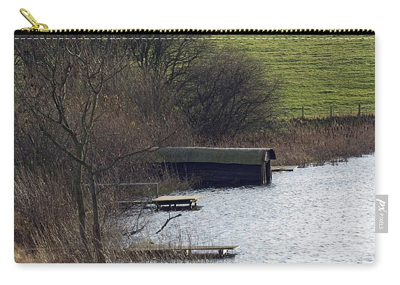Shropshire Carry-all Pouch featuring the photograph A Shropshire Mere by Bob Kemp