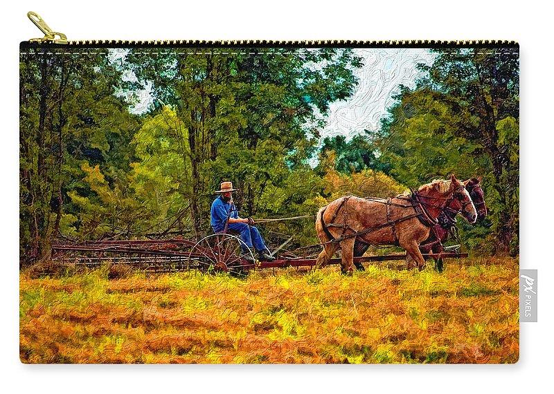 Farm Carry-all Pouch featuring the photograph A Simpler Time Impasto by Steve Harrington
