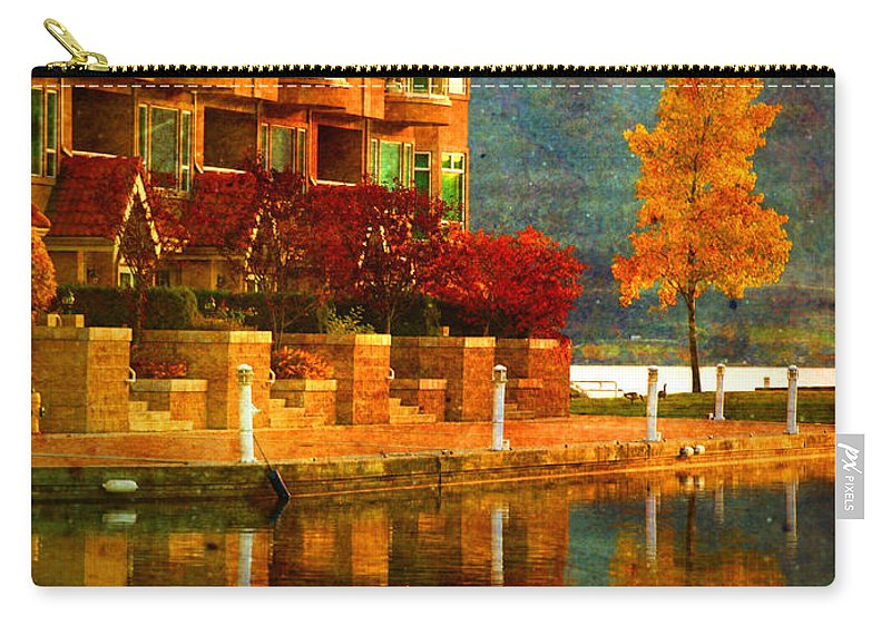 Tree Carry-all Pouch featuring the photograph A Single Yellow Tree by Tara Turner