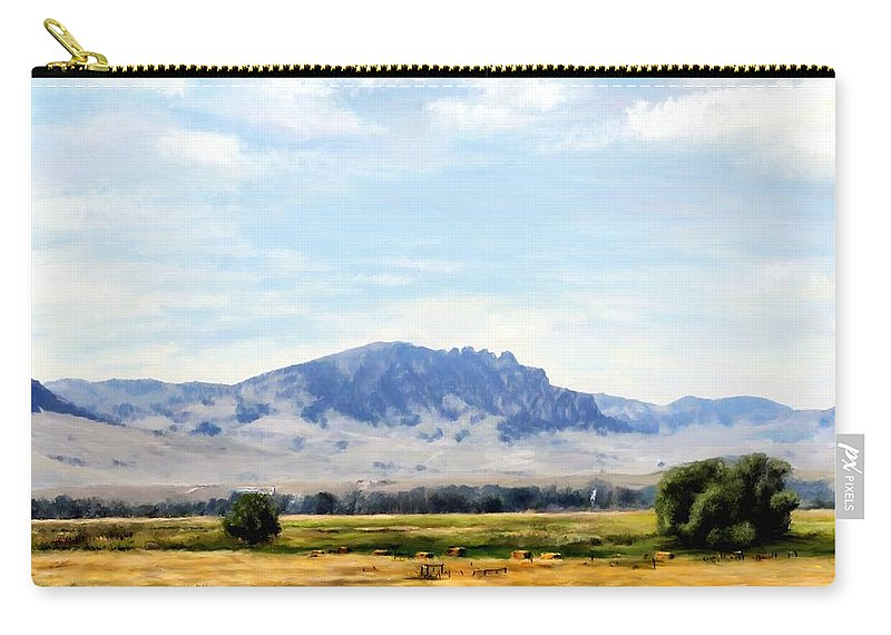 Digital Art Carry-all Pouch featuring the painting A Sleeping Giant by Susan Kinney