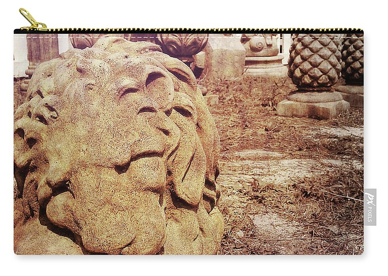 Sculpture Carry-all Pouch featuring the photograph A Sleeping King by JAMART Photography