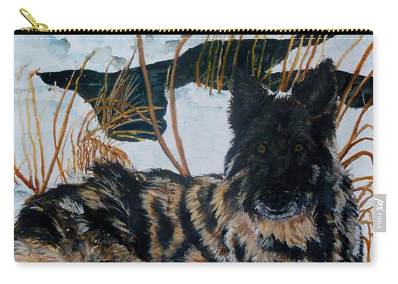 Shepherd Carry-all Pouch featuring the painting A Special Place by Lil Taylor