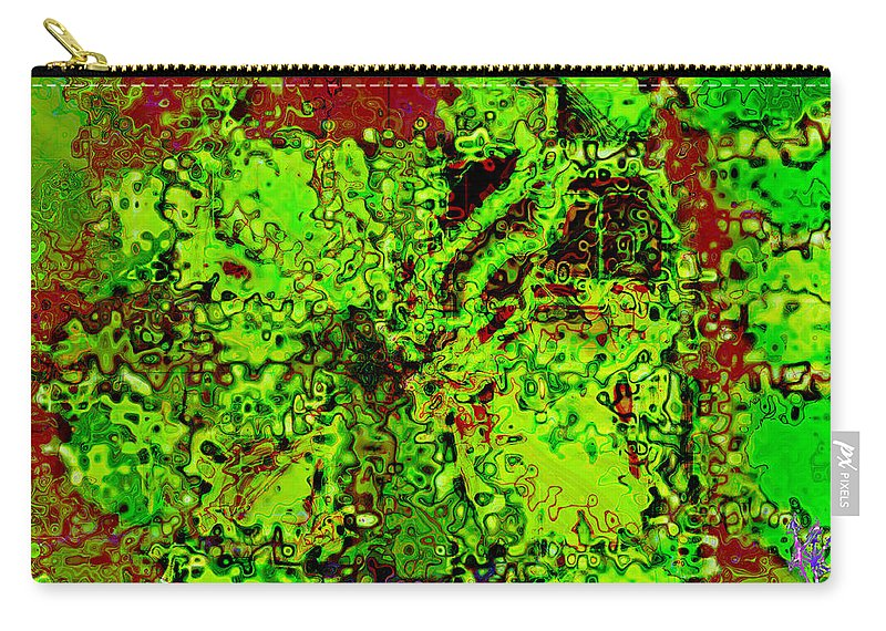 Grunge Carry-all Pouch featuring the digital art A Splash Of Battery Acid And It All Goes To Hell by Kevyn Kross
