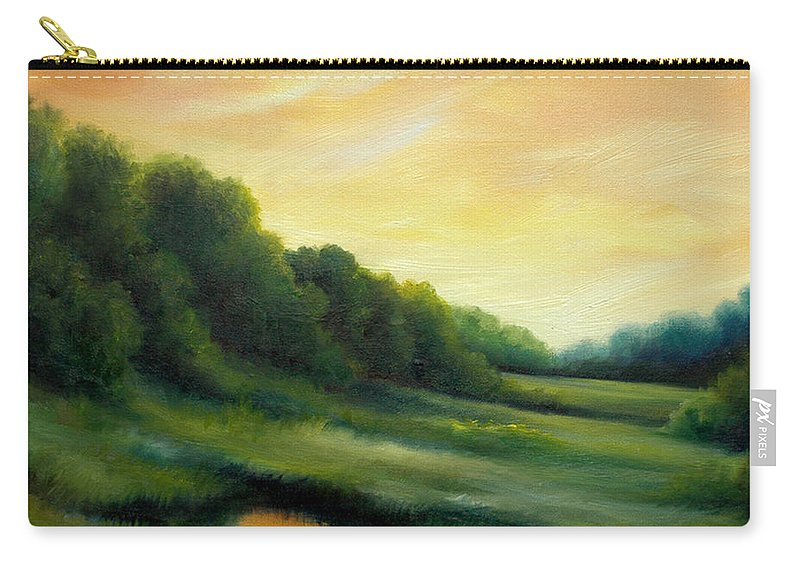 Clouds Carry-all Pouch featuring the painting A Spring Evening Part Two by James Christopher Hill
