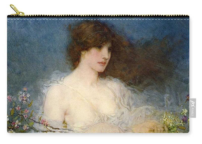 A Spring Idyll Carry-all Pouch featuring the painting A Spring Idyll by George Henry Boughton