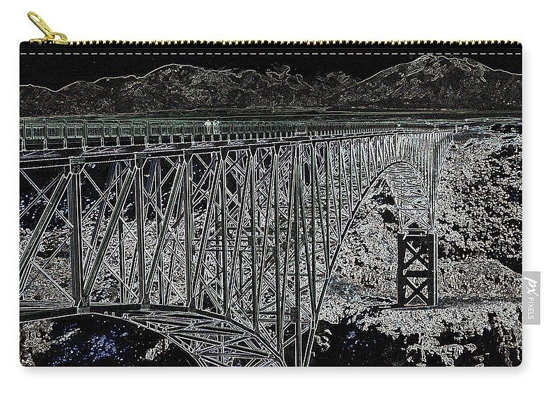 Bridge Carry-all Pouch featuring the digital art A Stroll by Lovina Wright