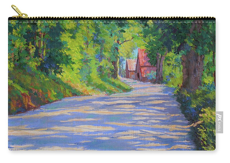 Landscape Carry-all Pouch featuring the painting A Summer Road by Keith Burgess
