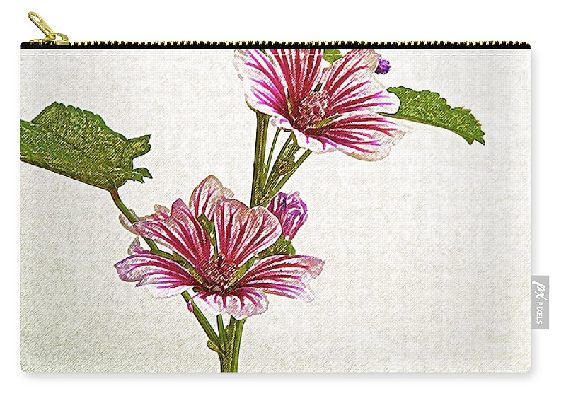 Flower Carry-all Pouch featuring the photograph A Summer Splash Of Color by Michael Peychich