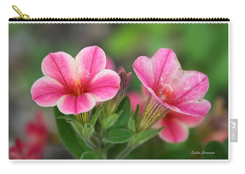 Flowers Carry-all Pouch featuring the photograph A Sunny Afternoon by Linda Sannuti