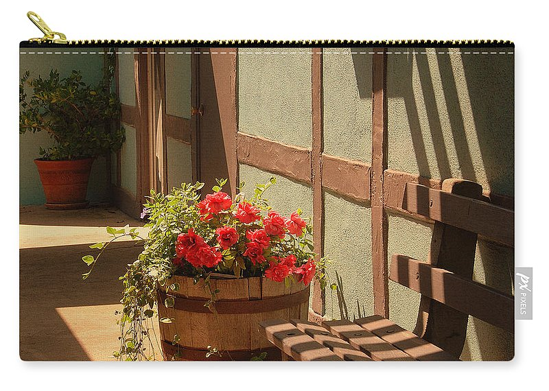 Photography Carry-all Pouch featuring the photograph A Sunny Spot by Susanne Van Hulst