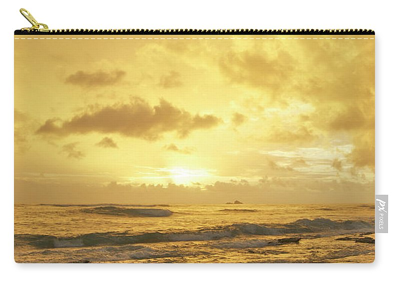 Hawaiian Carry-all Pouch featuring the photograph A Sunrise Over Oahu Hawaii by Michael Peychich