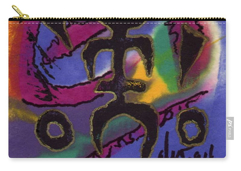 Abstract Carry-all Pouch featuring the mixed media A Symbol Of Life by Angela L Walker