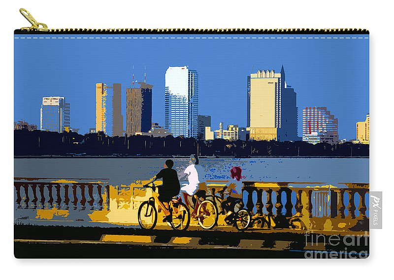 Tampa Bay Florida Carry-all Pouch featuring the painting A Tampa Bay Florida Summer by David Lee Thompson