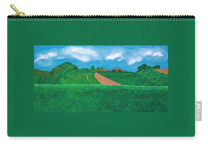 Landscape Carry-all Pouch featuring the painting A Taste Of Tuscany by Synthia SAINT JAMES